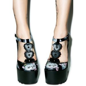 IRON FIST Cat Lady Platform Heels